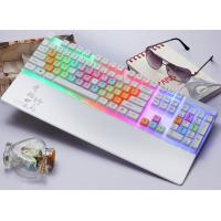 Quality Waterproof White Color LED Mechanical Keyboard Rainbow Light Keyboard for sale