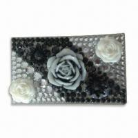 Quality Crystal Stickers for Mobile Phone Decoration in Fashionable Design, OEM and ODM Orders are Welcome for sale