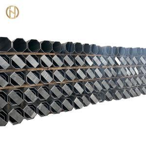 Quality 12M 40ft Galvanized Tubular Steel Transmission Pole 800daN 8KN ASTM 572 Gr65 for sale