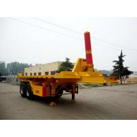 Quality CLWLiangshan Dongyue 8 meters 29 tons axle flatbed dump trailer CSQ9350ZZXP 2008 for sale