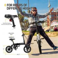 2 Wheel Mini Folding Smart Electric Bike Built In Lithium Battery 14 Inch Tyre Size