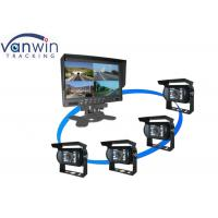 Quality 7''  TFT 4CH LCD Car Standalone Monitor 4 Quad Images for Van for sale