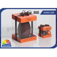 Quality Logo Printed Transparent PVC Boxes , Gift Paper Box with Clear Plastic Window for sale