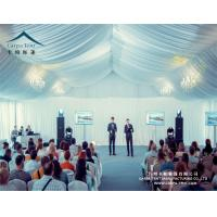 Quality Huge Outdoor High Peak Pavilion Wedding Party Tent 25 X 30m Decorated With Curtains And Linings for sale