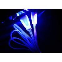 Quality Blue Color Night Light Up Micro USB Charging Cable For Android Phones for sale
