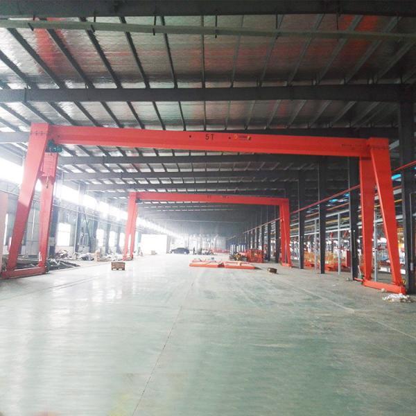 Buy Supply Limit Switch Single Girder Gantry Crane , 5 Ton Rail Mounted Gantry Crane at wholesale prices
