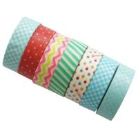 Quality Writable Beautiful Washi Paper Tape , Patterned Paper Masking Tape For Craft Deco for sale