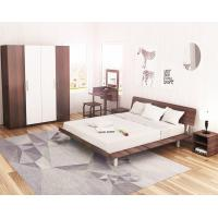 Quality Simple Japanese tatami type bed 1.5 meters MDF with metal double bed and 1.8 single bed 1.2 modern creative walnut color for sale