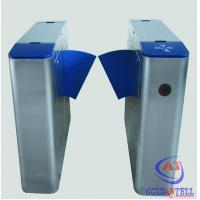 China IP54 220v AC Power Flap Barrier Gate Electronic Optical Gate Waist Height on sale