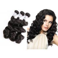 Quality Natural Black Remy Hair Weft With Closure / 10 - 30 Brazilian Body Wave Hair for sale