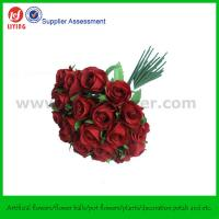 Quality Silk Rose Wedding Bouquet of Bridal Bouquet in Red X 26 Rose Buds for sale