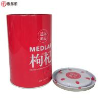 Buy Wholesales Custom Wolfberry packaging tinplate box round food tin cans at wholesale prices