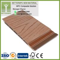 China Exterior Composite Wall Planks 3D Wall Covering Outdoor Wood Plastic Siding WPC Wall Panel Decorative on sale
