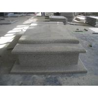 Quality Western Style Grey Granite Stone Tombstone Straight Carving Flat Grave Monuments for sale