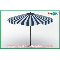 Buy cheap Customized Beach Wood Handle Sun Umbrella Aluminum Frame Sun Protective Umbrella from wholesalers
