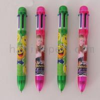 China 7502,Hot sale colorful 6 in 1 multi colored ballpoint pen on sale