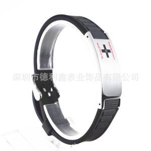 Quality Titanium bracelet Both men and women Silicone steel bracelet silicone bracelet 18mm  Manufacturer Customized for sale