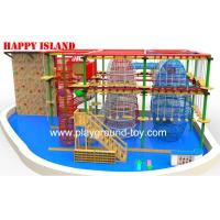 Buy cheap Galvanized Steel Home Park Adventure Playground Ropes / Solid Wood from wholesalers