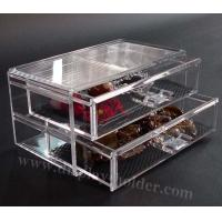 Quality Clear Acrylic Makeup Case Cosmetic Drawer for sale