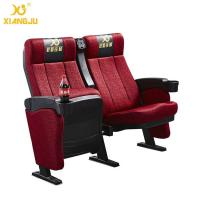 Quality ISO9001 Commercial Fabric Tip Up Seat Cinema Theater Chairs Folded for sale