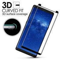 Quality Samsung Note 8 Anti Smudge Privacy Glass Screen Protector 3D Curved Edge for sale