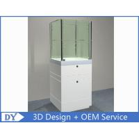 Quality Custom  Big Size Gloss White Jewerly Display Cases With Cabinet for sale