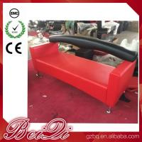 Quality 3 Seat Waiting Area Sofa Red Customers Chair Used Barber Shop Furniture Cheap Waiting Room Chair for sale