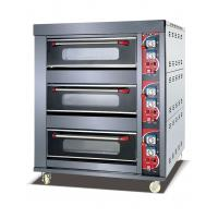Quality Gas Deck Oven LPG Gas Type Front Stainless Steel  3 Deck 6 Trays Deck Oven FMX-O203AG for sale
