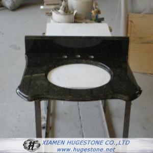Quality Dark Green Granite Sink Countertop, Vanity Tops for sale