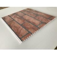 Quality Brick Decorative Plastic Wall Panels Hot Stamping X Hollow Core Structure for sale