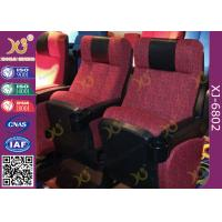 Quality ISO Certification Padding Armrest Folding Theater Seats With Flame Retardant Fabric for sale