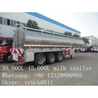 Quality factory price high quality road milk tank truck for sale, factory direct sale best price CLW stainless steel milk truck for sale