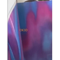 Quality OK3D supplier soft tpu material flip lenticular printing 3d lenticular fabrics/textiles/clothing for sale