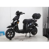Quality Black Cool Color Ladies Electric Scooter 600W 800w Soft Leather Seat Rear Box for sale