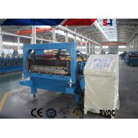 Quality Steel Ribbed Roofing Roll Forming Machine , Glazed Tile Roll Forming Machine for sale