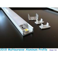 Buy Aluminum extrusion for kitchen cabinet opal plastic coverd led aluminum profile at wholesale prices