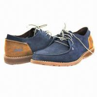 Quality Men's Leisure Casual Shoes with Suede Upper, Lace-up Closure, High Quality for sale