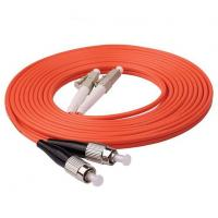 Quality 1m (3ft) LC UPC to FC UPC Duplex 2.0mm PVC (OFNR) OM1 Multimode Fiber Optic Patch Cable for sale