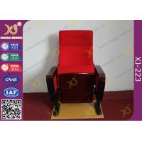 Quality Modern Conference Room Chairs With Writing Pad In Arm / Metal Frame for sale