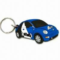 Quality Car Shape Keychain, Made of Soft PVC, Customized Designs are Welcome, Measures 40 x 30 x 35cm for sale