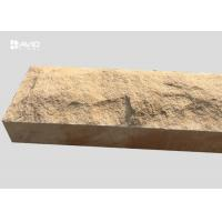 China Chiselled Yellow Mushroom Sandstone Stone For Decoration Walls / Columns on sale