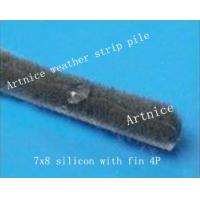 Quality 7*8mm Grey  silicon weather strip, quality aluminium door and window weather strip in different size for sale