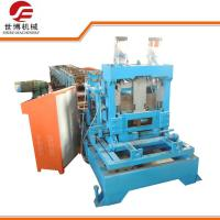 China Automatic Metal C Purlin Roll Forming Machine With Interchangeable Cutter Device on sale