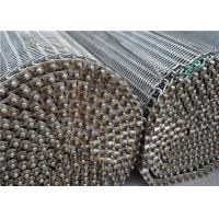 Quality SS304 316 316L Spiral Wire Metal Mesh Belt High Temperature Resistance for sale