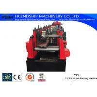 Quality Changeable C Z Purlin Roll Forming Machinery , Automatic Change size,PLC operate for sale