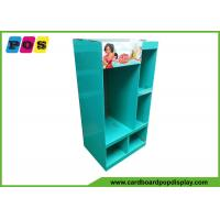 Retail Shelf FSDU Cardboard Floor Displays With Pockets For Kids Clothes FL201