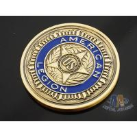 Quality Custom Logo Soft Enamelled US 3D effect Challenge Coins Antique gold With Soft Enamel Both side for sale