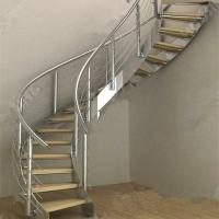 Quality Modern Luxury  Steel Curved Structure Staircase for sale