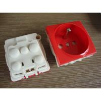 Quality France Electric Power Sockets , French Electrical Outlet With Two Round Pin for sale