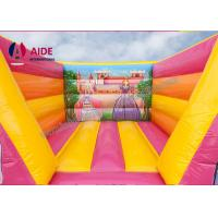 Pink Party Bouncy Castle Rental , Inflatable Bouncers For Kids Combo Theme